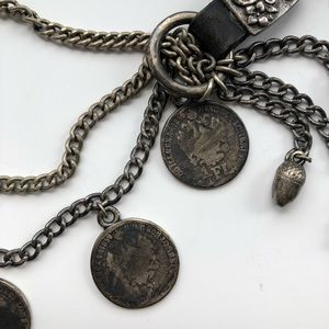 Leather Coin Chain Belt